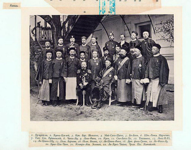China Delegation on the Coronation of Emperor Nicholas II and Empress Alexandra Feodorovna, 1896.