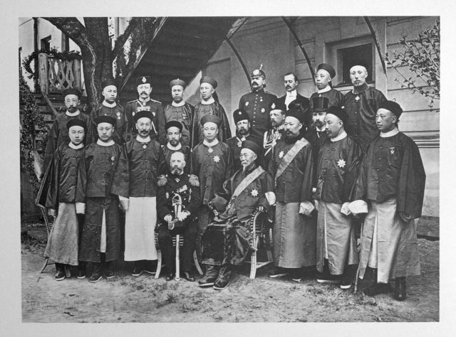 Chinese Guests of the Coronation of Emperor Nicholas II and Empress Alexandra Feodorovna, 1896.