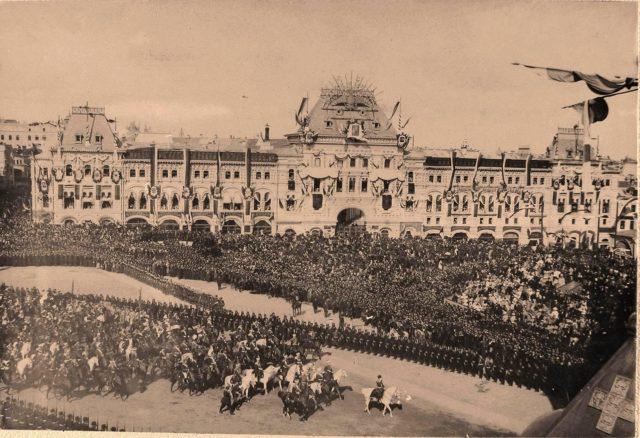 Central Moscow. Coronation of Emperor Nicholas II and Empress Alexandra Feodorovna, 1896