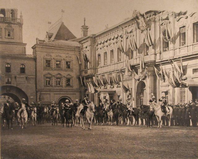 Nicholas II coronation entrance, 1896
