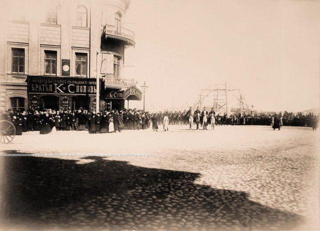 Spectators. Coronation of Emperor Nicholas II and Empress Alexandra Feodorovna, 1896