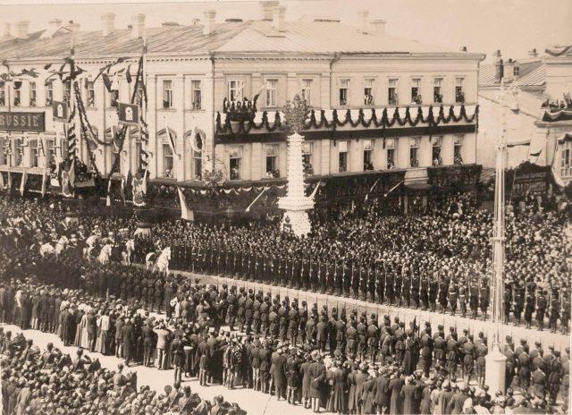 Crowds at Coronation of Emperor Nicholas II and Empress Alexandra Feodorovna, 1896