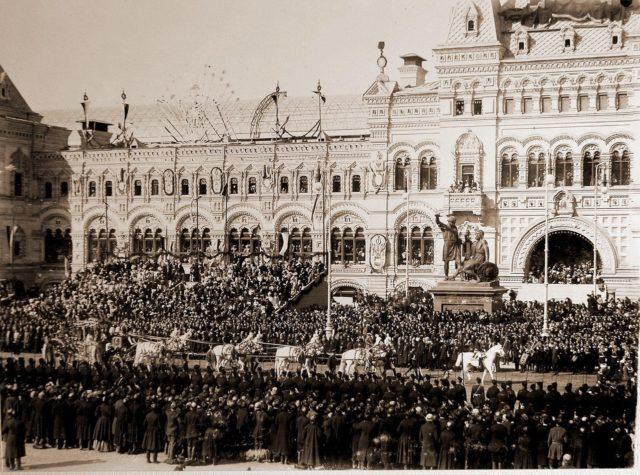 Red Square. Coronation of Emperor Nicholas II and Empress Alexandra Feodorovna, 1896