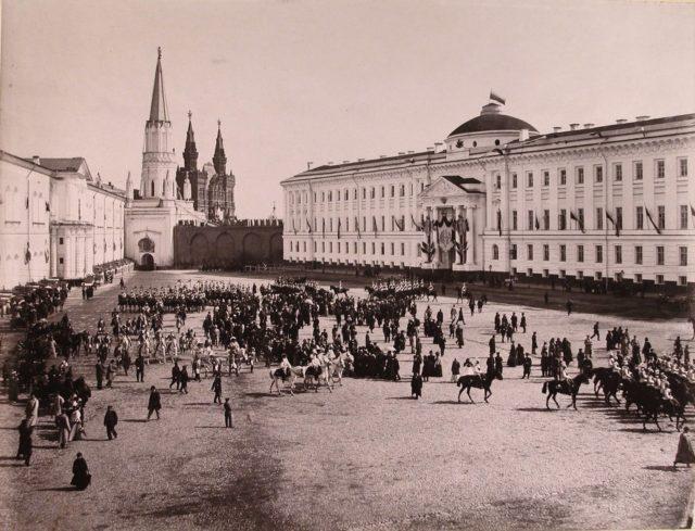 Kremlin, Moscow. Coronation of Emperor Nicholas II and Empress Alexandra Feodorovna, 1896