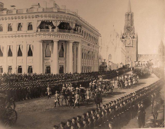 Entrance of Coronation procession of Emperor Nicholas II and Empress Alexandra Feodorovna, 1896