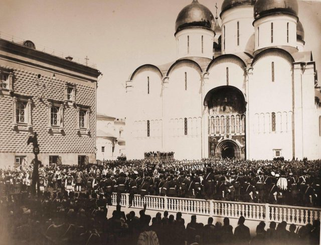 Uspenskiy Cathedral. Coronation of Emperor Nicholas II and Empress Alexandra Feodorovna, 1896