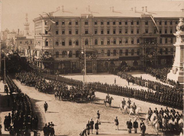 Procession on Coronation of Emperor Nicholas II and Empress Alexandra Feodorovna, 1896