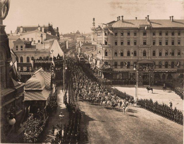 Procession entrance. Coronation of Emperor Nicholas II and Empress Alexandra Feodorovna, 1896