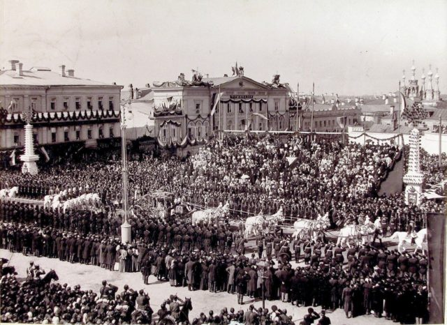 Carriage of the Empress Dowager. Coronation of Emperor Nicholas II and Empress Alexandra Feodorovna, 1896