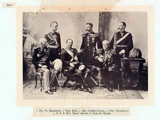 Denmark Delegation of the Coronation of Emperor Nicholas II and Empress Alexandra Feodorovna, 1896.