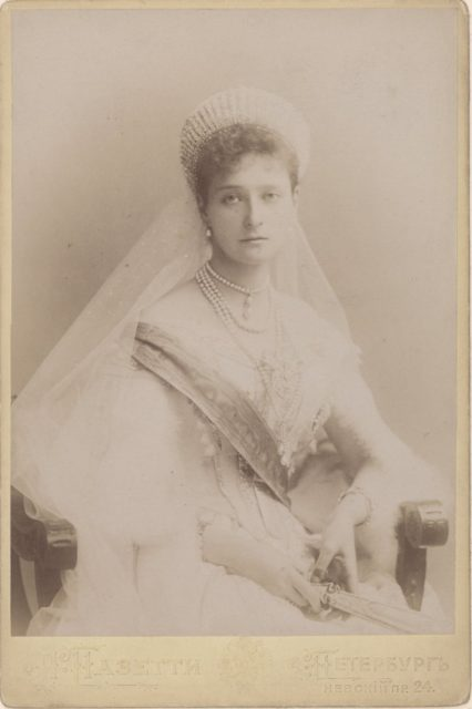 Young Empress of Russia Alexandra Feodorovna