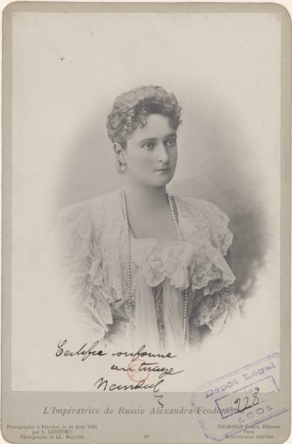 Empress of Russia Alexandra Feodorovna in 1901
