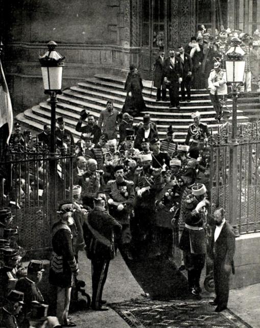 Exit from Alexander Nevsky Cathedral in Daru street of Emperor Nicholas II, Paris.