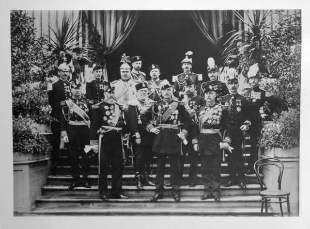French Military Guests of the Coronation of Emperor Nicholas II and Empress Alexandra Feodorovna, 1896.