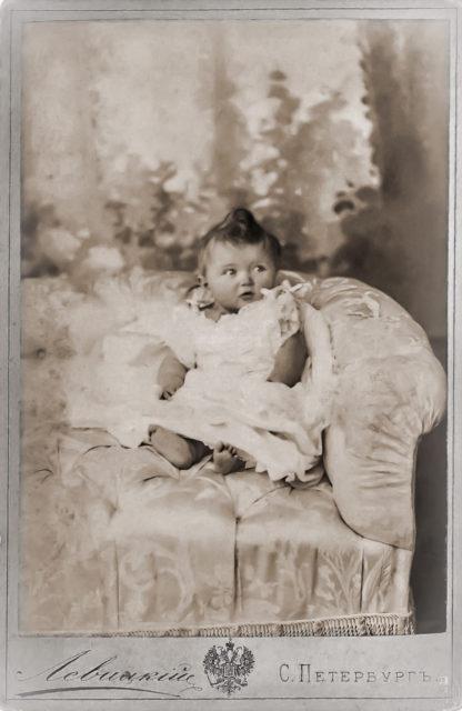Grand duchess Olga Nicholaevna. 1896.