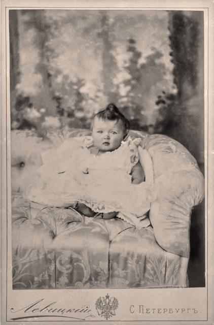 Grand duchess Olga Nicholaevna, one year old