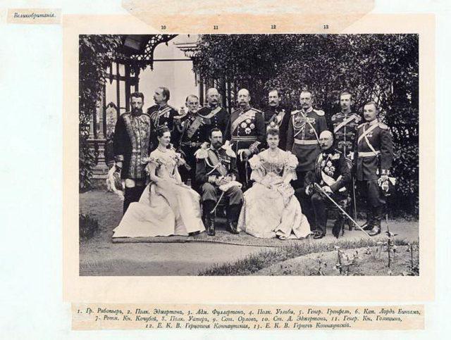 Great Britain Delegation on the Coronation of Emperor Nicholas II and Empress Alexandra Feodorovna, 1896.