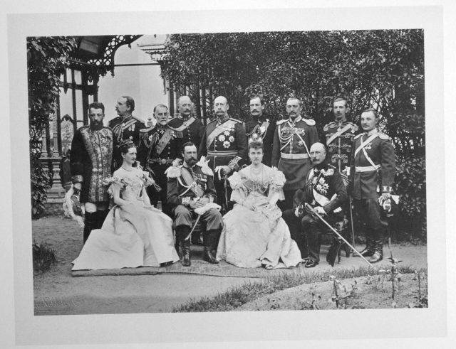Great Britain Guests on the Coronation of Emperor Nicholas II and Empress Alexandra Feodorovna, 1896.
