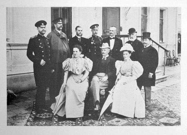 Guests of the Coronation of Emperor Nicholas II and Empress Alexandra Feodorovna, 1896.