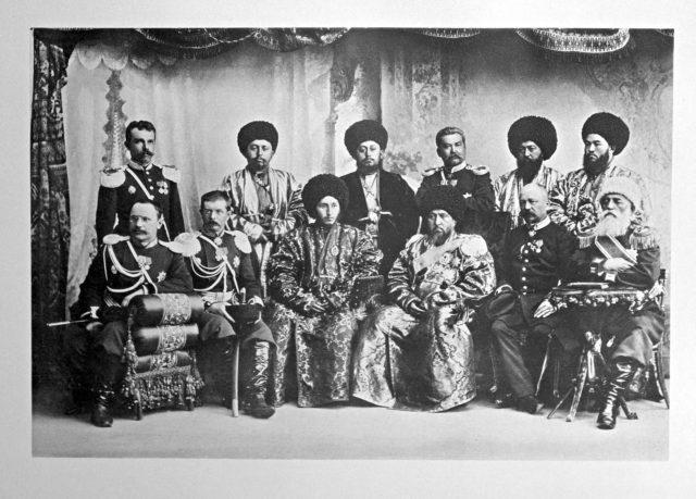 Samarkand? Guests of the Coronation of Emperor Nicholas II and Empress Alexandra Feodorovna, 1896.