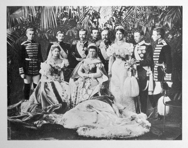 Royalty Guests of the Coronation of Emperor Nicholas II and Empress Alexandra Feodorovna, 1896.