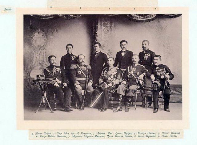 Japanese Delegation of the Coronation of Emperor Nicholas II and Empress Alexandra Feodorovna, 1896.