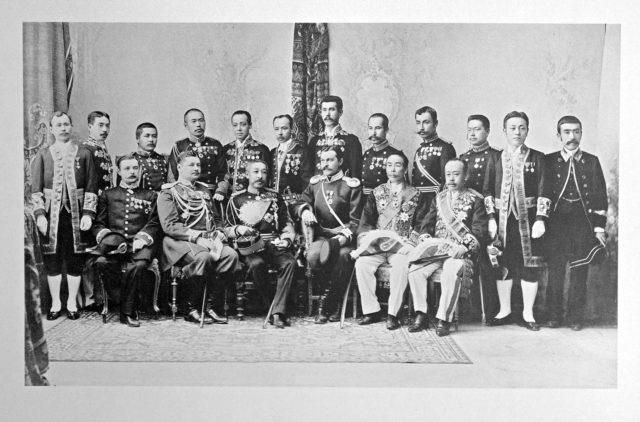 Japanese Delegation on the Coronation of Emperor Nicholas II and Empress Alexandra Feodorovna, 1896.
