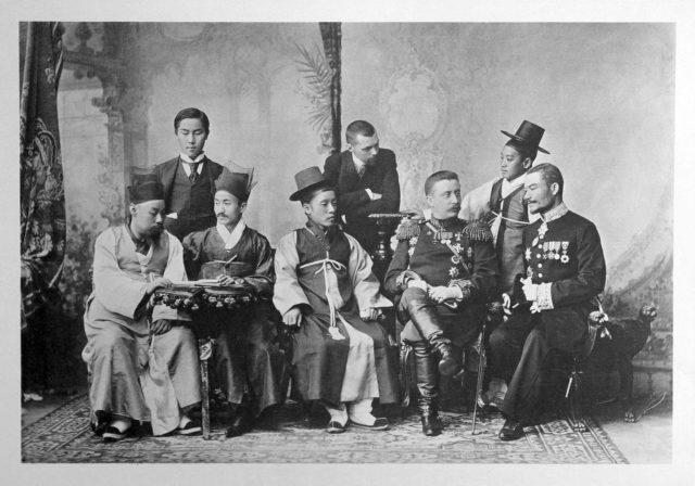 Korean Guests of the Coronation of Emperor Nicholas II and Empress Alexandra Feodorovna, 1896.