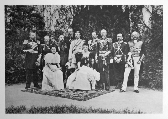 Meklenburg Schwerin Guests of the Coronation of Emperor Nicholas II and Empress Alexandra Feodorovna, 1896.