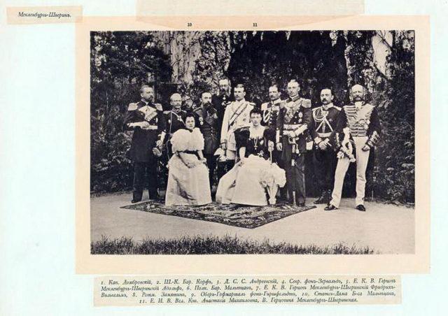 Meklenburg Guests of the Coronation of Emperor Nicholas II and Empress Alexandra Feodorovna, 1896.