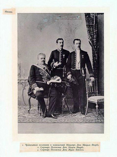 Mexican Guests of the Coronation of Emperor Nicholas II and Empress Alexandra Feodorovna, 1896.