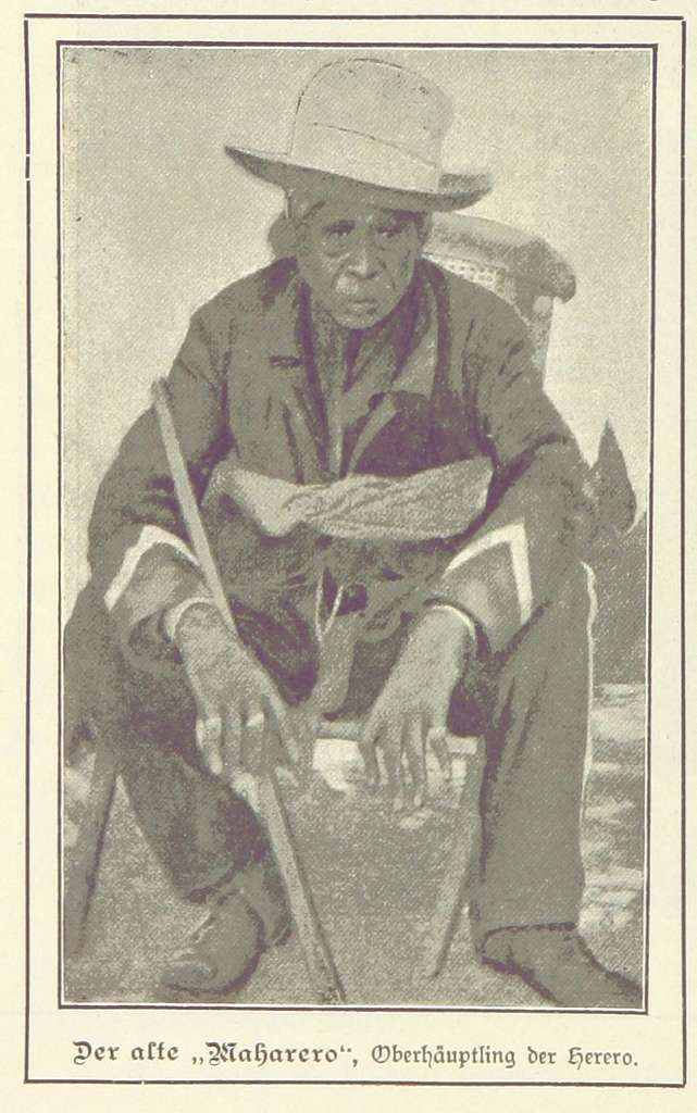 Nama und Damara pg144 Der alte Maharero Oberhäuptling der Herero