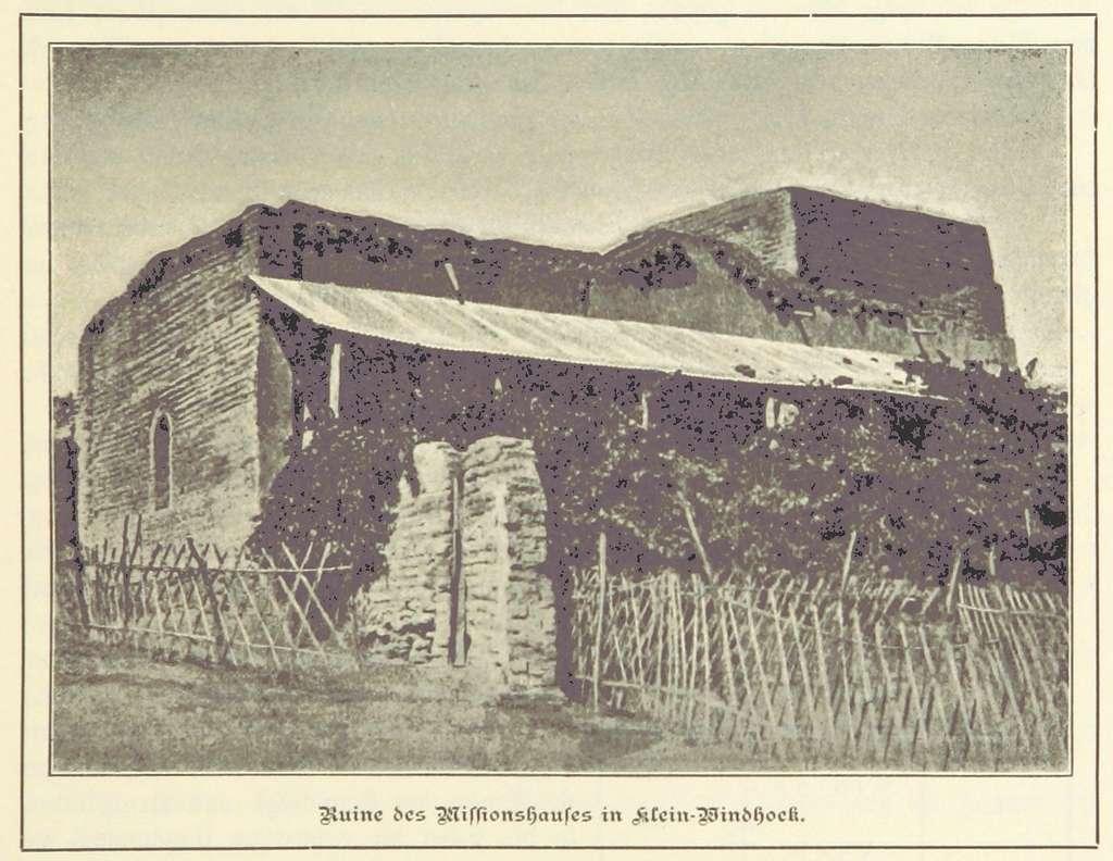 Nama und Damara pg161 Ruine des Missionshauses in Klein-Windhoek