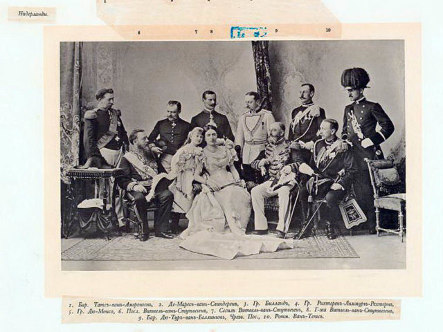 Netherlands Guests of the Coronation of Emperor Nicholas II and Empress Alexandra Feodorovna, 1896.