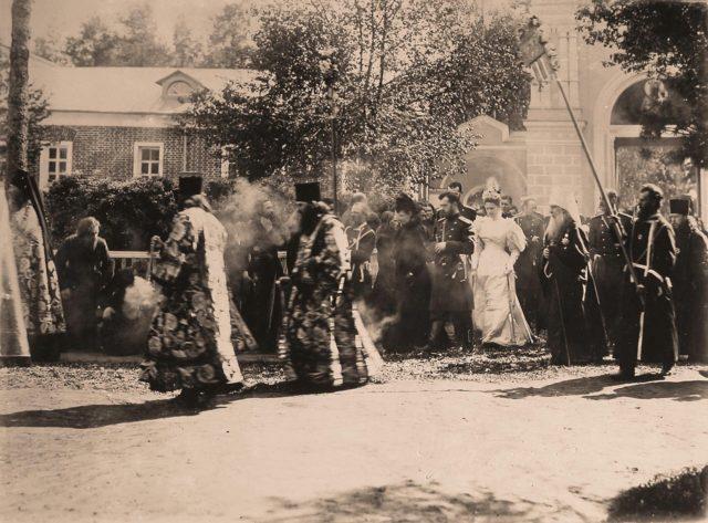 Nicholas II visit to Troitse-Sergievskaya Lavra. May 22, 1896