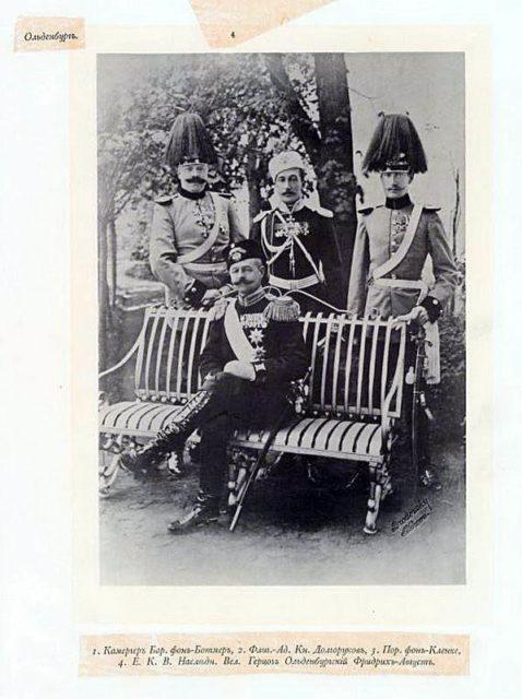 Oldenburg Guests of the Coronation of Emperor Nicholas II and Empress Alexandra Feodorovna, 1896.