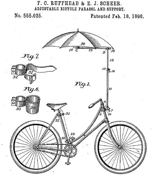 Patent Application for Parasol Attachment (to a Bicycle)