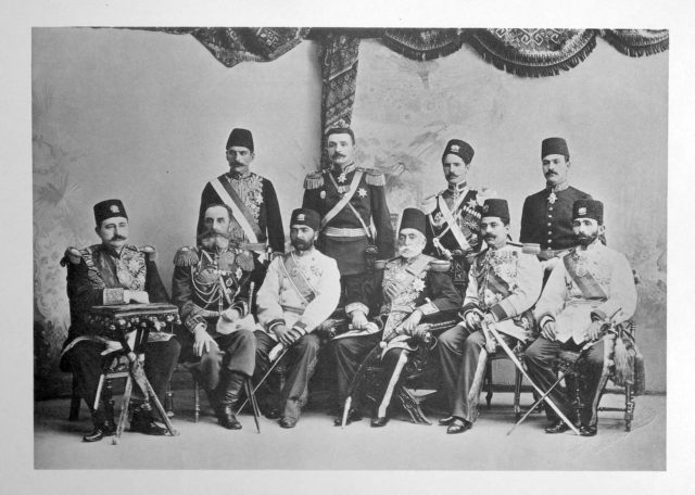 Persian Delegation on the Coronation of Emperor Nicholas II and Empress Alexandra Feodorovna, 1896.
