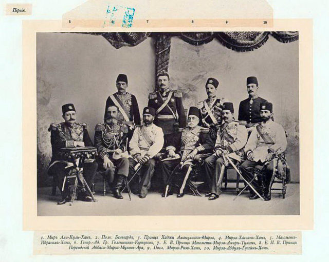 Persian Guests of the Coronation of Emperor Nicholas II and Empress Alexandra Feodorovna, 1896.