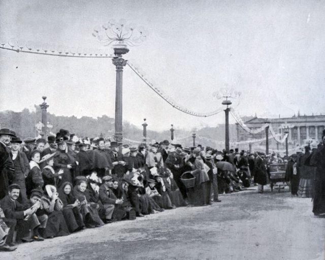 Pont de la Concorde. Paris. Nicholas II, Empress Alexandra Feodorovna, Paris, 1896