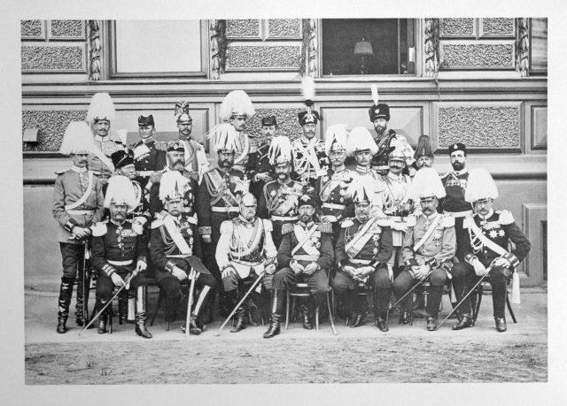 Prussian delegation on the Coronation of Emperor Nicholas II and Empress Alexandra Feodorovna, 1896.