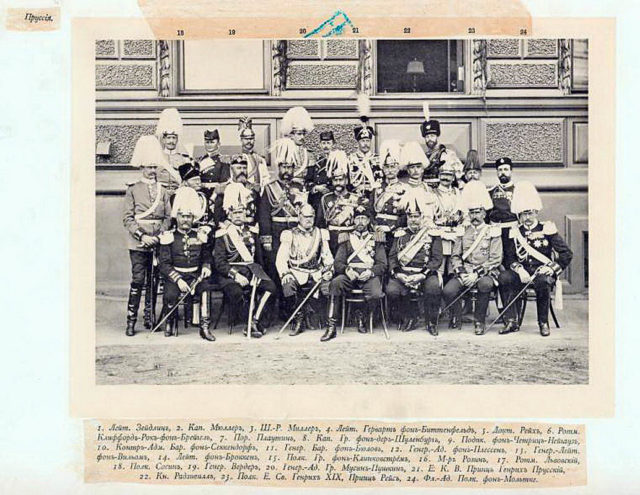 Prussian Guests of the Coronation of Emperor Nicholas II and Empress Alexandra Feodorovna, 1896.
