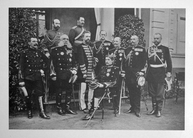 Romanian Guests of the Coronation of Emperor Nicholas II and Empress Alexandra Feodorovna, 1896.