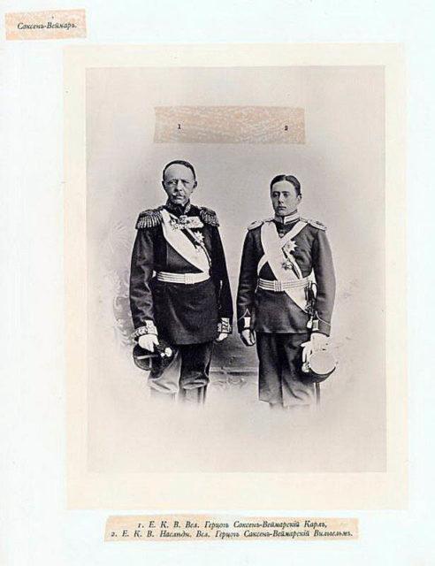 Saxen Weimar Guests of the Coronation of Emperor Nicholas II and Empress Alexandra Feodorovna, 1896.