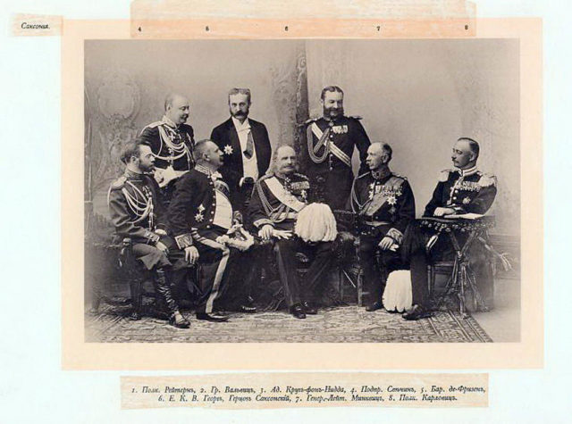 Saxony Guests of the Coronation of Emperor Nicholas II and Empress Alexandra Feodorovna, 1896.