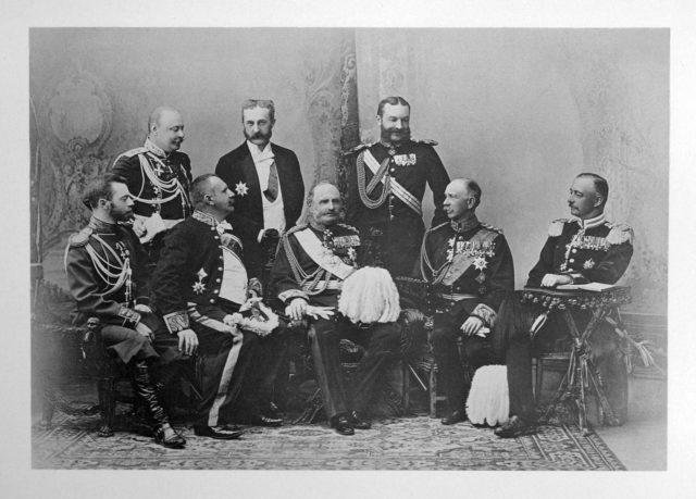 Saxony Delegation of the Coronation of Emperor Nicholas II and Empress Alexandra Feodorovna, 1896.