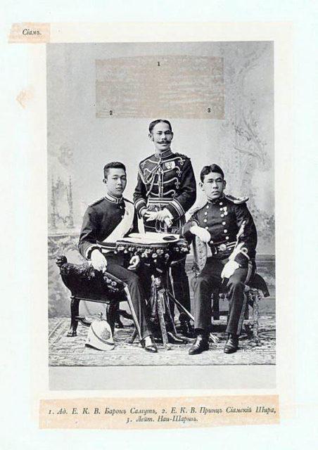 Siam Guests of the Coronation of Emperor Nicholas II and Empress Alexandra Feodorovna, 1896.