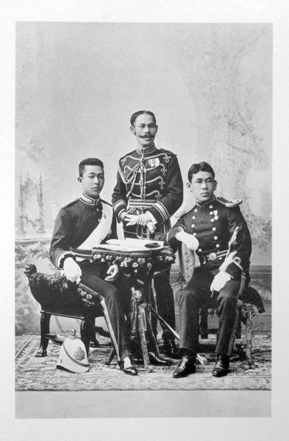 Siamese Guests of the Coronation of Emperor Nicholas II and Empress Alexandra Feodorovna, 1896.