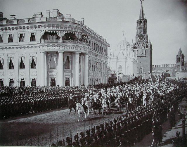 The coronation of Emperor Nicholas II. 1896, Moscow Kremlin.
