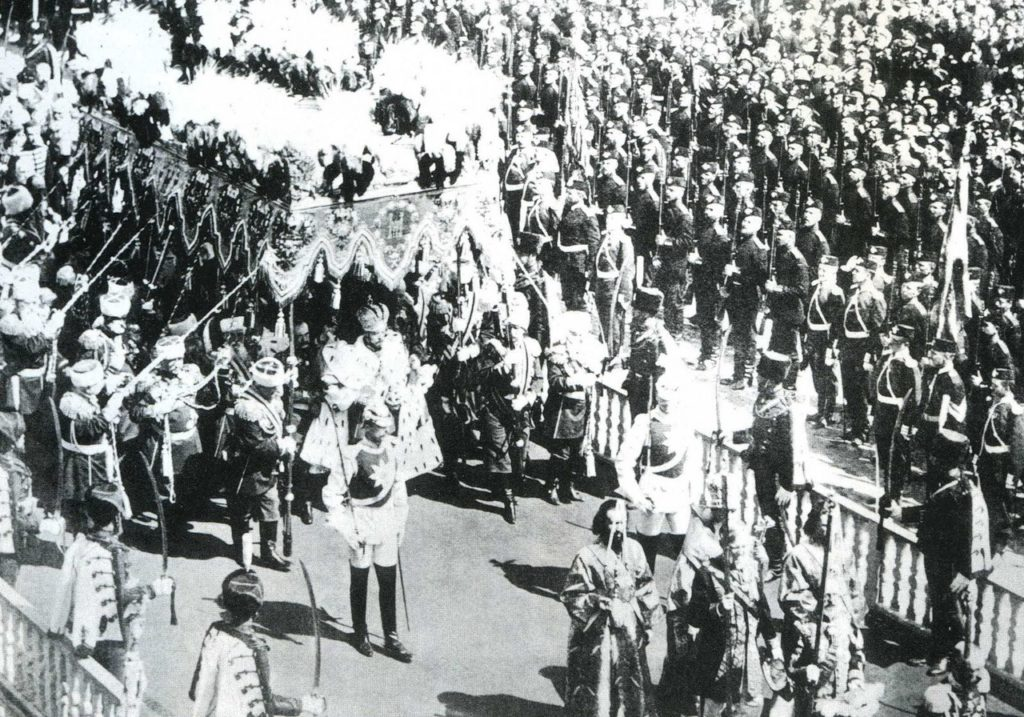 The coronation of Emperor Nicholas II